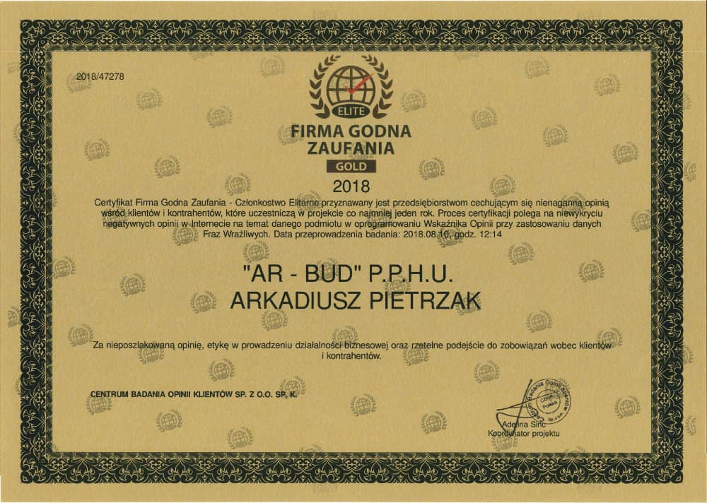 certyfikat ar-bud
